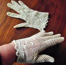 vintage gant  crochet blanc cassé@glove