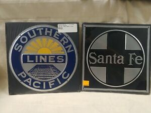 Sothern Lines Pacific & Santa Fe Tin Signs