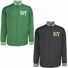 Popper Polyester Collared Baseball Coats & Jackets for Men