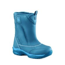 Girls Lands End Bright Teal Snow Winter Flurry Waterproof Boots UK Size 10