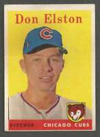 1958 Topps #363 Don Elston VGEX Cubs 40216