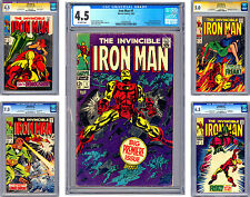 INVINCIBLE IRON MAN #1-2-3-4-5 CGC 4.5-4.5-5.0-7.0-6.5 ISSUES #2-3 STAN LEE 1968