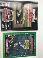 1996 Daytona 500 Race Program NASCAR Winston Cup With Pontiac Patch Lineup