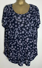 Evans Navy Print Jersey Tunic Top Size 22/24 New