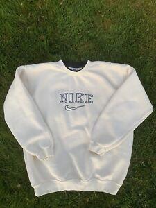 vintage nike spellout sweatshirt Crewneck cream Rare Size Mens XL 90s