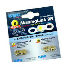 KMC CL566R 9R 9 Speed 6.6mm Re-usable Bike Bicycle Chain Missing Link - Gold