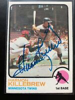 Harmon Killebrew #170 signed autograph auto 1973 Topps Baseball Card Slabbed