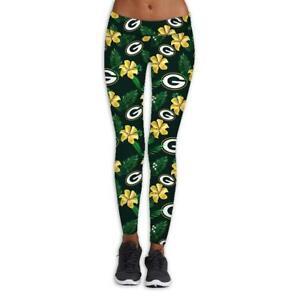 Green Bay Packers Women High Wasit Leggings Strectchy Yoga Pants Butt Lift