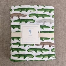 Pottery barn kids Jeremy twin sheet set Green Alligator
