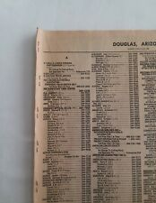 1986 Douglas, Arizona Directory Yellow Pages A-Z