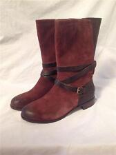 UGG AUSTRALIA WOMENS DEANNA BOOT DEEP BORDEAUX SUEDE SIZE 6.5 NEW
