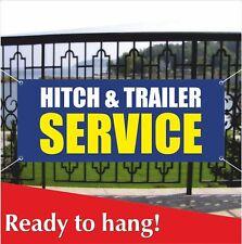 Hitch Amp Trailer Service Banner Vinyl Mesh Banner Sign Coupling Van Car Garage