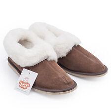 100 Sheepskin Slippers for Women Wool Insole Rubber Sole. UK UK 4 EU 37