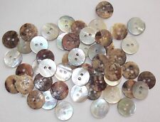 50 x MOTHER OF PEARL- 2 HOLE  13mm BUTTONS, SCRAPBOOKING, CRAFT ETC.,