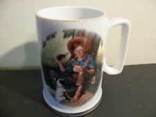 Coca-Cola Mug Norman Rockwell Art, The Barefoot Boy, Commemorative Edition