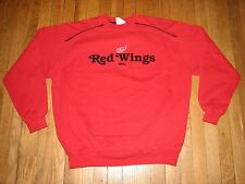 RARE 90'S DETROIT RED WINGS RED VINTAGE SWEATER LEE SPORT HOCKEY NHL WINTER WARM