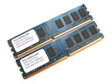 Electrobyt PC2-6400U-666 4GB (2x2GB Kit) 2Rx8 800MHz DDR2 RAM Memory DIMM BLUE