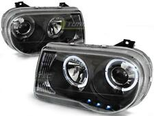Paire de feux phares Chrysler 300C de 2005 a 2010 angel eyes noir