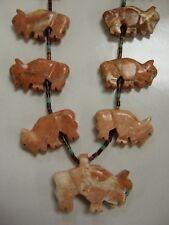 Native American Buffalo Fetish Necklace Handmade Buff Colored Buffalo