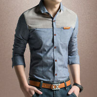 3 Colors Z6272  Fashion Casual Shirts New Men's Long-sleeve Slim Dress Shirts