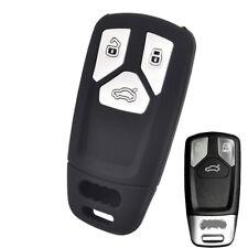 Silicone Key Cover Remote Case For Audi A4 B9 Q5 Q7 TT 2017 2018 Fob 3 Button