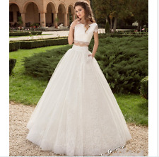2 Piece Wedding Dress  Ball Gown  Lace Wedding Dress Bride Dresses