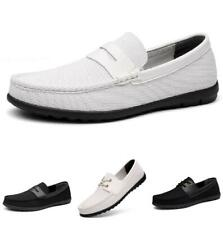 Mens Canvas Loafers Shoes Driving Moccasins Pumps Lace up Slip on Breathable D