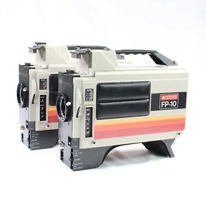HITACHI FP-10 Professional Color Video Camera Vintage 1980s SET OF 2 Japan