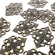15 x Bronze tone Metal Ornate Shape Filigree Embellishments Decorations, Craft