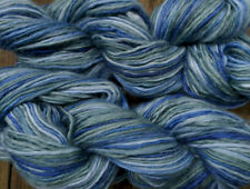 Pure wool yarn worsted weight, green and blues, 2 large skeins