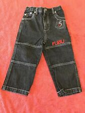 Fubu The Collection Black embroidered carpenter Jeans Toddler Boys 2T