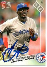 Anthony Alford Toronto Blue Jays 2017 Topps Now MLB Debut Signed Card