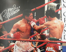 MANNY PACQUIAO Signed 14x11 Photo WORLD WELTERWEIGHT BOXING CHAMPION COA