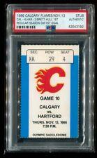 PSA Ticket Hockey NHL St. Louis Blues 1986 Brett Hull HOF Debut 1st Goal PSA
