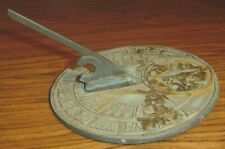 American Sundial Inc Point Arena Calif Bronze Metal Sundial 7.5""