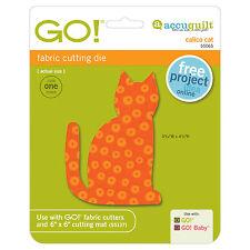 AccuQuilt GO! & Baby Calico Cat Fabric Cutting Die 55065 Quilting Applique Sew