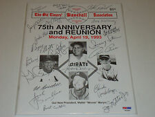 PSA / DNA CERTIFIED 22 AUTOGRAPHED OLD TIMERS BASEBALL PROGRAM BAJDA BRICKHOUSE