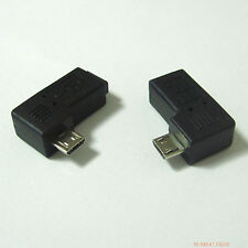 25pairs 90 degree left right angle micro USB male to mini B 5p female connector
