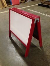 """18"""" X 18.5"""" Double Side White Dry Erase Board Red Wood Frame tabletop Display"""