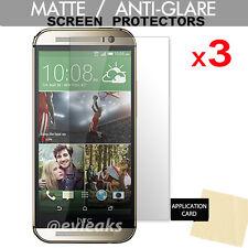 3 x  HTC One M8 & One M8s ANTI-GLARE MATTE Screen Protector Cover Guard Shield