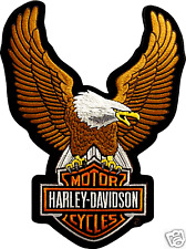 HARLEY DAVIDSON UP WING EAGLE BROWN PATCH  15 INCH (XXL) RETRO  HARLEY PATCH
