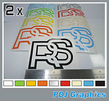 2 x Ford RS Classic / Retro Escort Mexico RS2000 Fiesta Vinyl Stickers / Decals