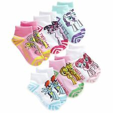 Planet Sox My Little Pony colorful Toddler Girl ankle socks 6pc set 2T-4T