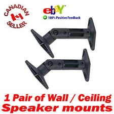 2 Universal Speaker Wall Mount Bracket Swivel Black perfect bose cube & others