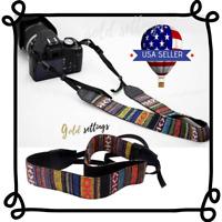 Retro Strap For Video Camera DSLR Soft Multi-color Neck Shoulder Strap Passers