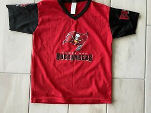 Youth medium 10/12 NFL football Tampa Bay Buccaneers red mesh jersey shirt top
