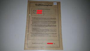 Fahrzeugbrief KFZ Brief 1968 Fiat 850 100G 34PS f. Sammler Sammlung