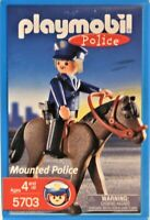Playmobil 5703 Mounted Police Mint In Box German Toy Free Shipping