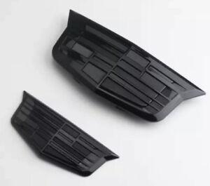 2Pcs All Black Cadillac Logo Car Front & Rear Badge Emblems for XT6 XT5 ATS XTS