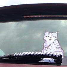 2 Pcs/Set Cat Moving Tail Back Windshield Rear Window Wiper Car Stickers Decals